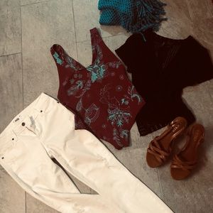 Free People Body Suit. Cotton Size large.